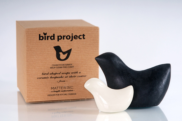 bird soap with ceramic keepsake for gulf restoration and animal rescue